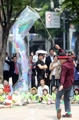 Circus performance in downtown Seoul
