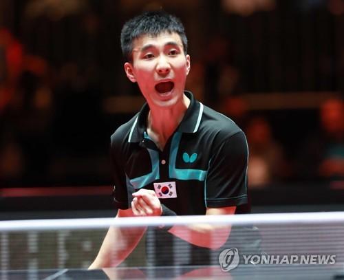 6月の卓球世界選手権の男子シングルスで銅メダルを獲得した李尚洙(イ・サンス、国軍体育部隊)も出場予定だ(資料写真)=(聯合ニュース)