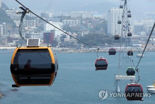 해상케이블카 모습 [연합뉴스 자료사진]
