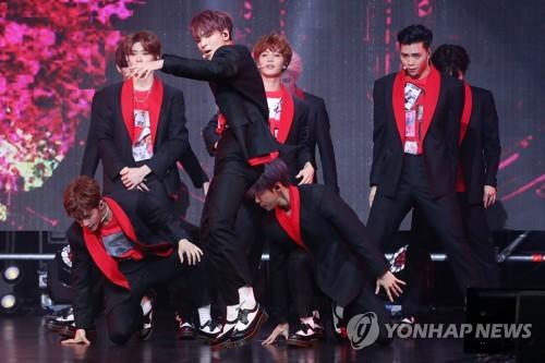 男团NCT 127新歌舞台