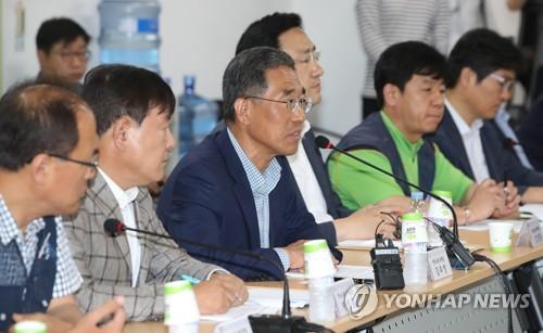 김주영 한국노총 위원장 인사말