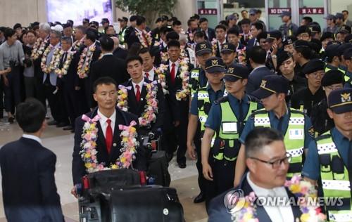 북한 주도 ITF태권도 10년 만의 방한에 공항부터 '들썩'