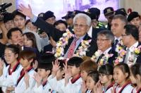 북한 태권도시범단 10년 만에 방한…평창올림픽 논의 주목