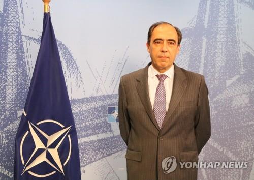 NATOのアルバゴンザレス事務総長補=29日、ブリュッセル(聯合ニュース)