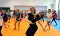 Foreign students dance to K-pop