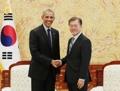 文在寅接见美国前总统奥巴马