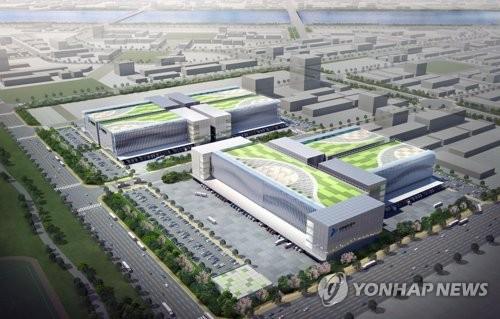 인천 신항 LNG 냉열 이용 냉동·냉장물류단지 조감도
