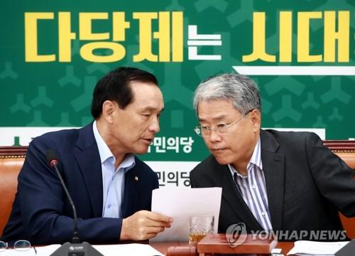 논의하는 김동철-김중로