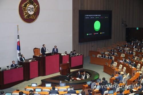 북한 군사적 도발 규탄 결의안 가결
