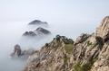 雾遮峰石穿雾