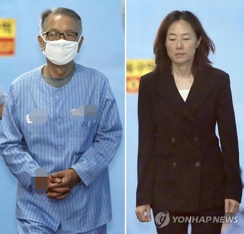 김기춘 징역 3년-조윤선 집행유예로 수갑 풀고