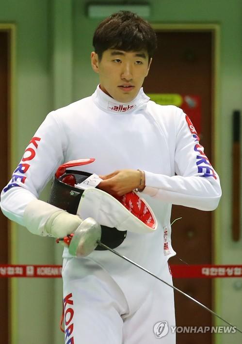 펜싱 박상영, 세계선수권대회 남자 에페 8강서 탈락