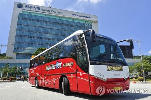 강원도 첫 오픈 탑 원주투어버스 [연합뉴스 자료사진]