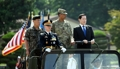 韩防长访问韩美联合司令部