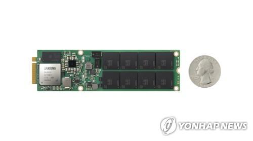 ハイエンドSSD製品「Z—SSD」(サムスン電子提供)=9日、ソウル(聯合ニュース)