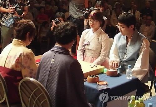 결승 대국 펼치는 박정환-최정 페어