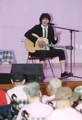 Singer Kim Jang-hoon with lepers