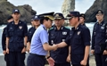 Coast guard head visits Dokdo Islets