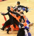 Dance sport competition in S. Korea