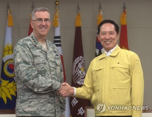 韩防长会美战略司令部司令