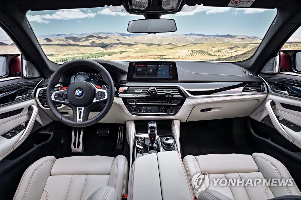 BMW 고성능차 '뉴 M5' 내부