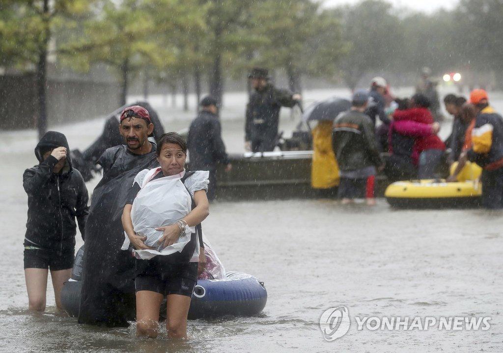 '하비' 강수량 29일 현재 1.25m…美사상 최고치 경신
