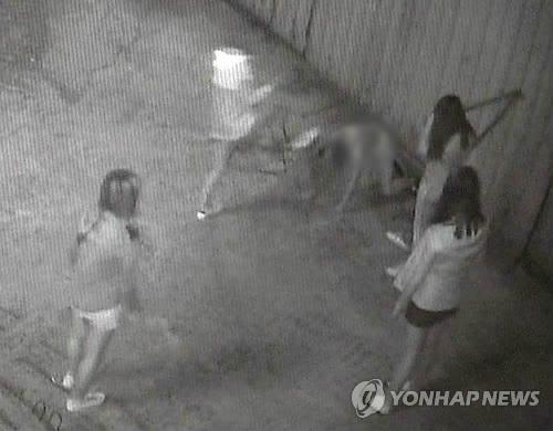 부산 여중생 폭행하는 가해자들
