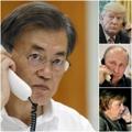 文在寅同美俄德总统通电话