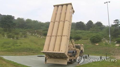 THAADの発射台(国防部映像共同取材団提供)=(聯合ニュース)