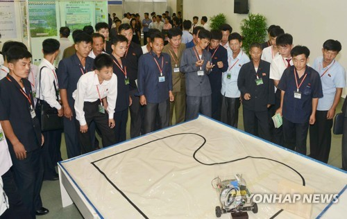 N.K. students exhibit science research