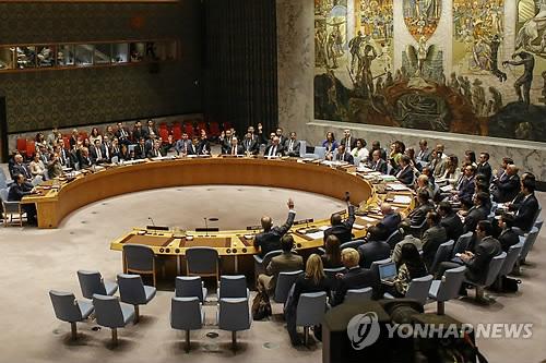유엔 안보리에서 대북결의를 표결하는 모습