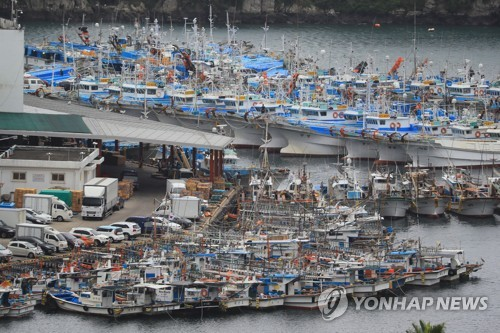 '탈림' 피해 온 어선들