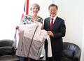 文在寅会见英国首相特雷莎・梅