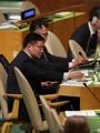 朝鲜代表团记录文在寅发言