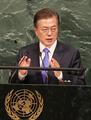 Moon addresses U.N. General Assembly