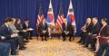 韩美领导人举行会谈