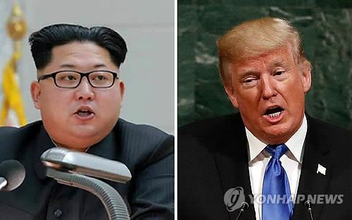 도널드 트럼프 미 대통령과 북한 김정은 노동당 위원장