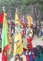 Royal parade re-enacted