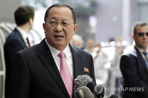 朝鲜外务相李勇浩(韩联社/美联社)