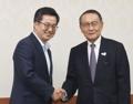 韓国経済副首相と日韓経済協会会長