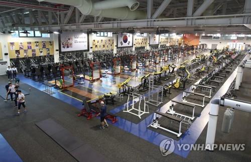 鎮川選手村のトレーニングセンター=27日、鎮川(聯合ニュース)
