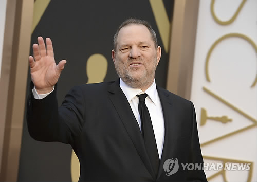 여배우들 다수를 성추행한 혐의를 받고 있는 할리우드 영화제작자 하비 와인스틴