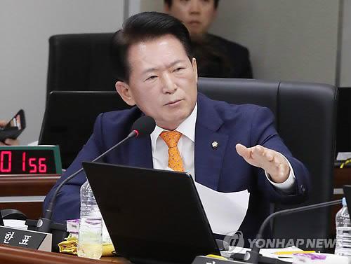 '적폐청산' 발언하는 김한표 의원