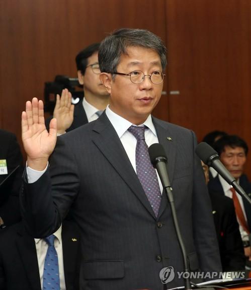 선서하는 박상우 한국토지주택공사 사장