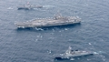 U.S. supercarrier arrives in Busan after joint drill