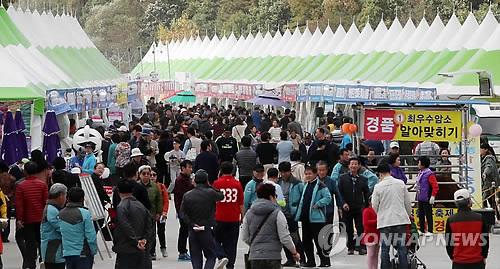 횡성한우축제장 인파 [연합뉴스 자료사진]