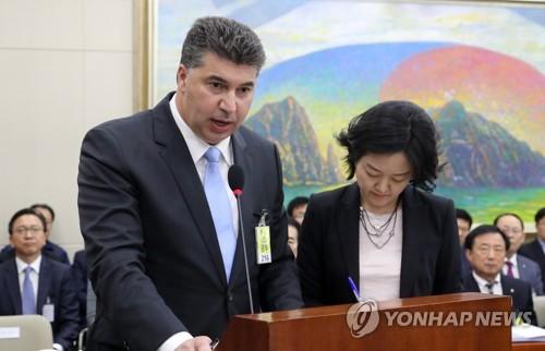 증인으로 국회 온 카허 카젬 한국지엠 사장