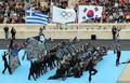 奥运圣火交接仪式