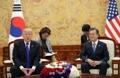 韩美领导人举行单独会谈