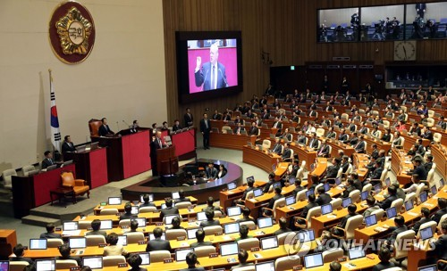 米大統領の韓国国会での演説は1993年7月のビル・クリントン氏以来、約24年ぶり=8日、ソウル(聯合ニュース)